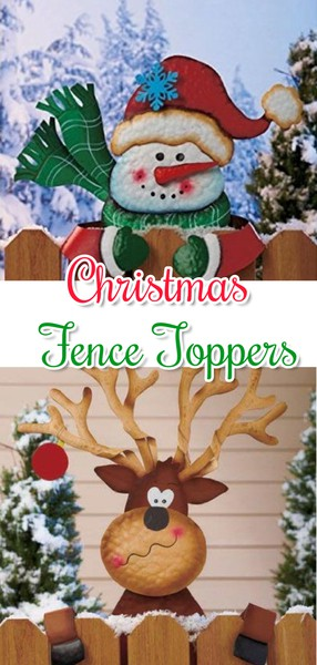 Christmas Fence Toppers