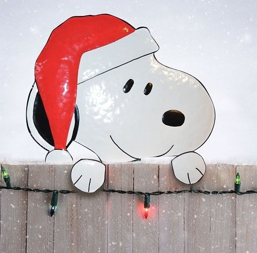 Snoopy Christmas Tree Topper: 5 Christmas Fence Toppers We Love