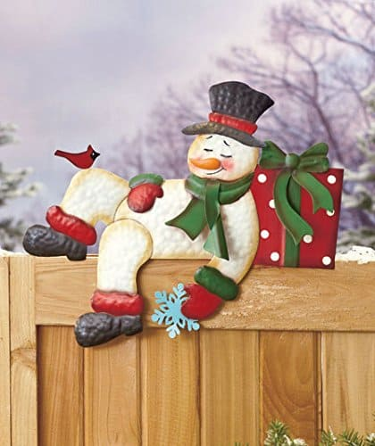 Snowman Fence Topper