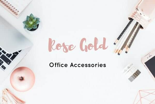 Rose Gold Office Accessories