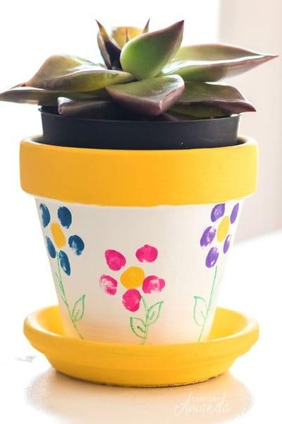 Fingerprint Flower Pot