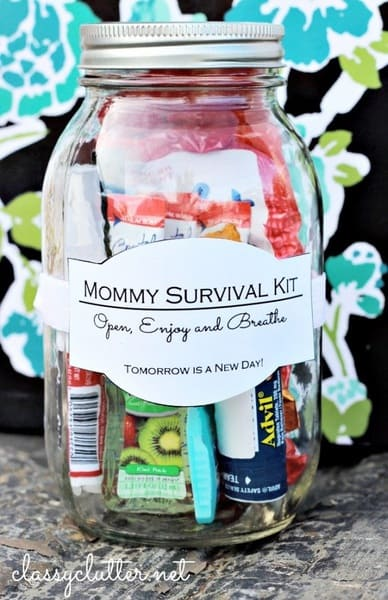 Survival Kit for Moms – Mother's Day Homemade Gifts with Mason Jars